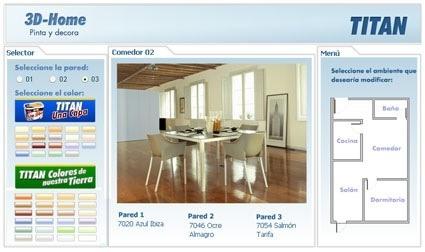 Simulador de ambientes ideas para pintar paredes - Simulador de colores para paredes ...