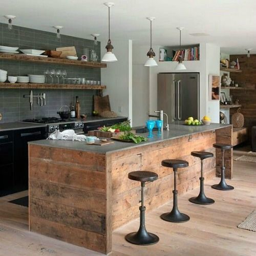 Ideas para decorar cocinas r sticas modernas y peque as - Decorar cocina rustica ...
