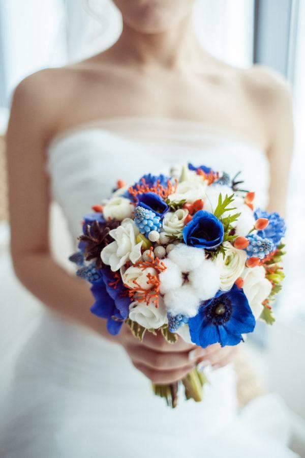 Resultado de imagen para ramos de novia naturales color azul