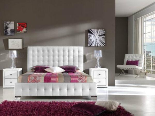 23-fotos-decoración-dormitorios-modernos-blanco-morado