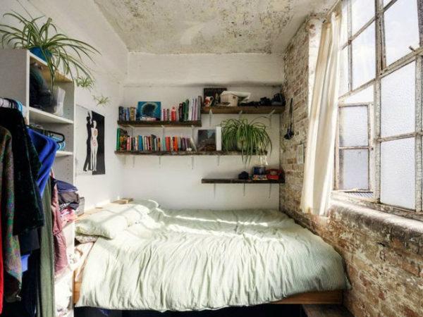 23-fotos-decoración-dormitorios-modernos-ladrillo