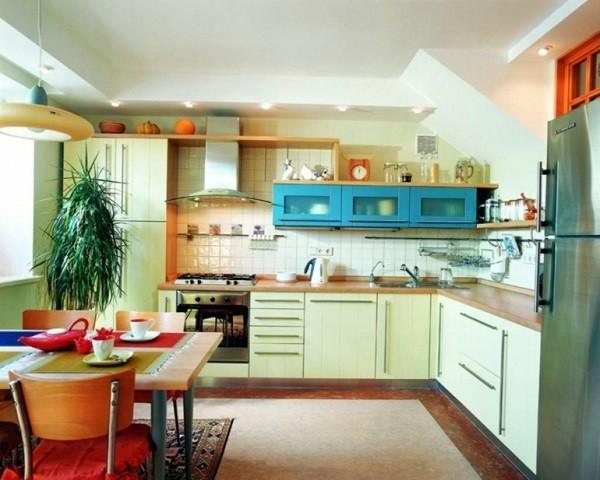 cocinas-pequenas-en-l-muebles-amarillos