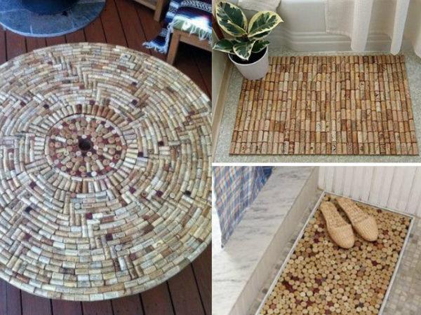 30-mejores-ideas-de-decoración-alfombra-con-tapones-de-corcho