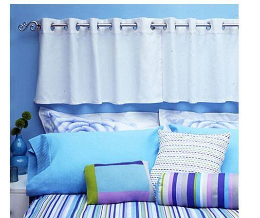 Cabeceros de cama hazlo t mismo diy - Hacer cortinas con trabillas ...