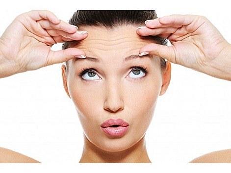 Eliminar arrugas en la frente