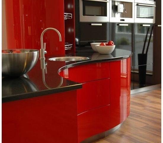 Cambiar de cocina cocinas en rojo - Cambiar azulejos cocina ...