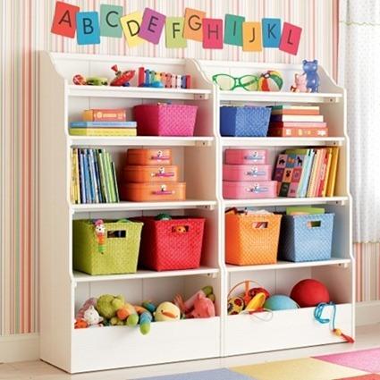 Estanterías infantiles para aprender a ordenar