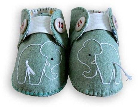 Manualidades para bebés  patucos de fieltro