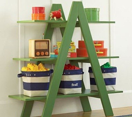 Estanter as infantiles para aprender a ordenar for Repisa escalera