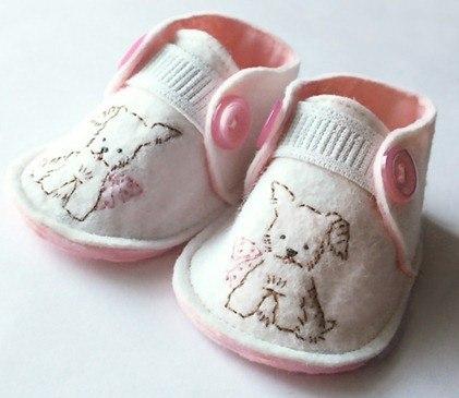 Manualidades para bebés| patucos de fieltro