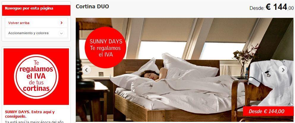 promoci n en cortinas velux sin iva. Black Bedroom Furniture Sets. Home Design Ideas