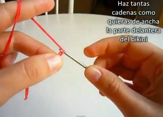 Cómo hacer un bikini de crochet