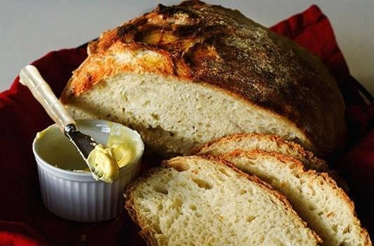 Pan sin amasado el resultado