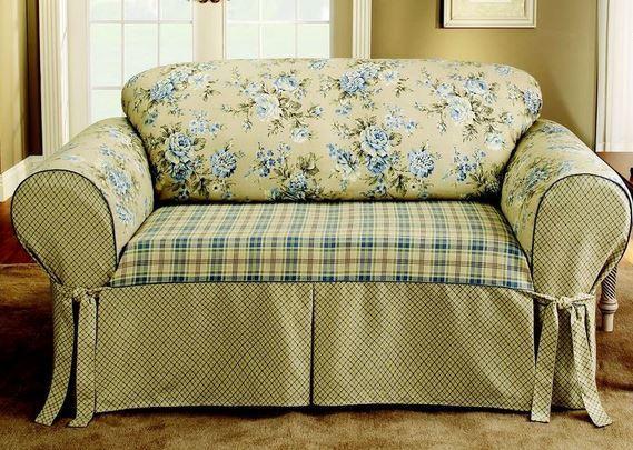 Como hacer forros para muebles imagui - Como hacer una funda para un sofa ...