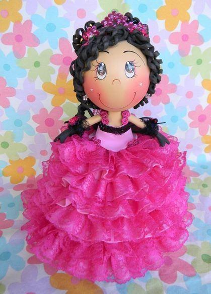 cómo hacer muñecas fofuchas- fofucha-rosa