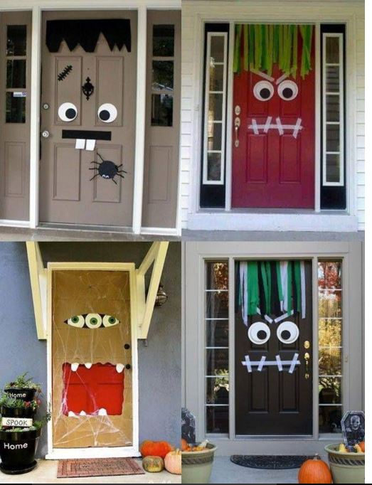 Decorar la puerta para halloween for Ideas para decorar puertas