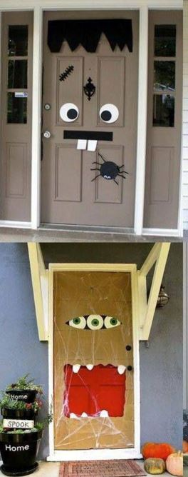 Decorar la puerta para Halloween BlogHogarcom