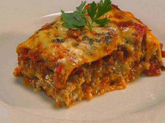 Lasagna vegetariana de berenjenas