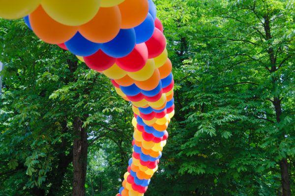 Como hacer arco de globos sencillo
