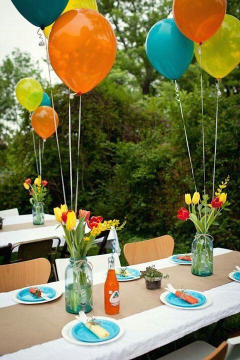 tendremos en cuenta si la fiesta es para un nio o para un adulto porque la decoracin puede variar en funcin de este detalle la utilizacin de flores