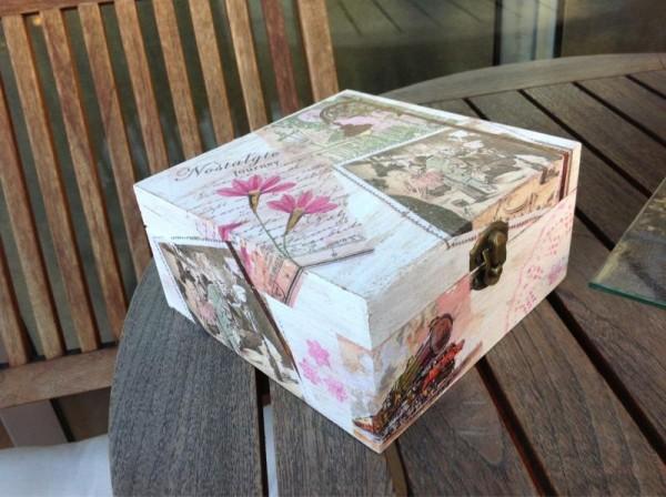 Cómo decorar unas cajas de madera
