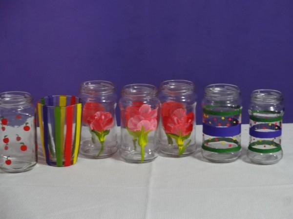 Cómo decorar unos botes de cristal