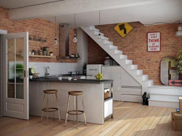 20-mejores-ideas-cocina-americana-escalera