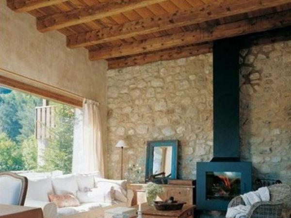 20 fotos con ideas de chimeneas r sticas para tu sal n - Fotos de chimeneas rusticas ...