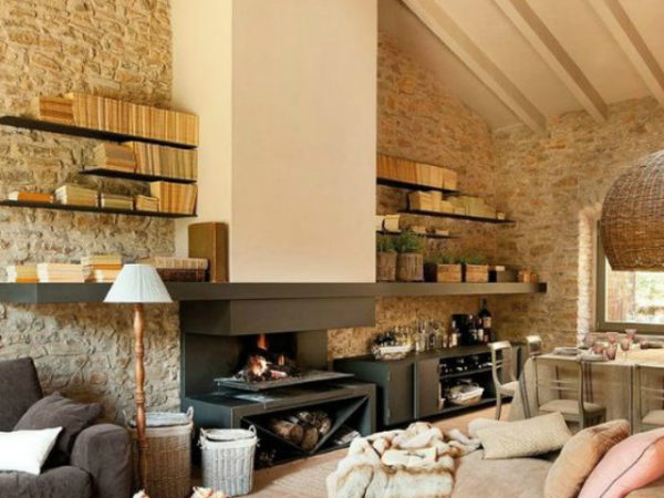 Como decorar un salon rustico con chimenea affordable te - Como decorar un salon rustico ...