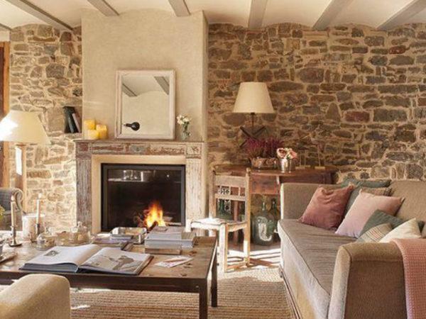 20 fotos con ideas de chimeneas r sticas para tu sal n - Decoracion de chimeneas modernas ...