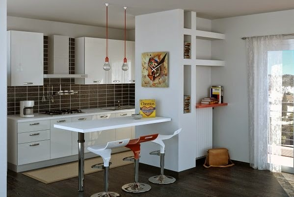 Las fotos con las mejores 30 cocinas peque as for Cocinas pequenas con isla