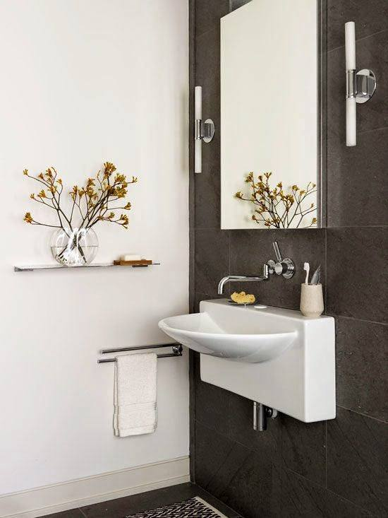 Baño Moderno Pequeno:Ideas de baños pequeños 2016: Baños originales con encanto