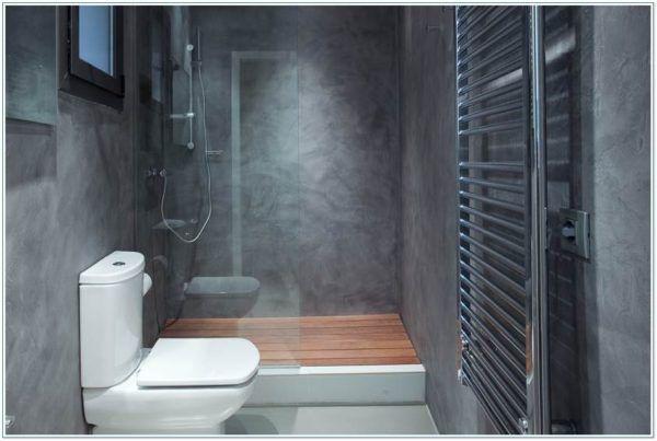 M s de 50 ideas de decoraci n de ba os peque os modernos 2018 - Distribucion bano con banera y ducha ...