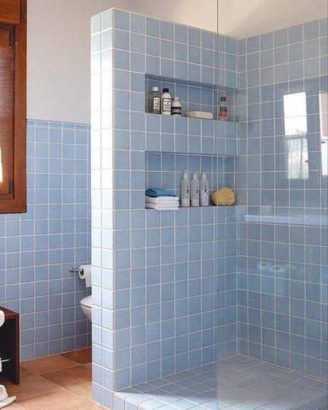 ba os pequenos con ducha modernos