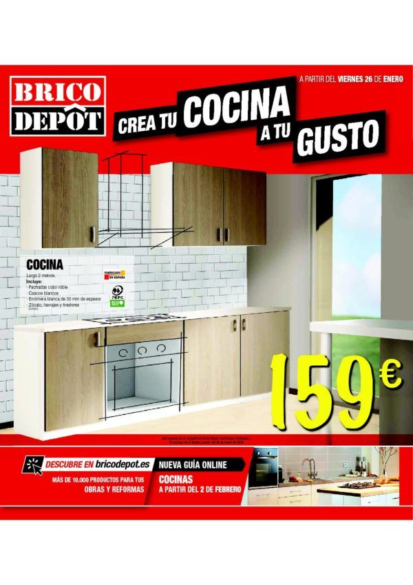 Cat logo brico depot cocinas marzo 2018 for Catalogo brico depot cocinas 2017