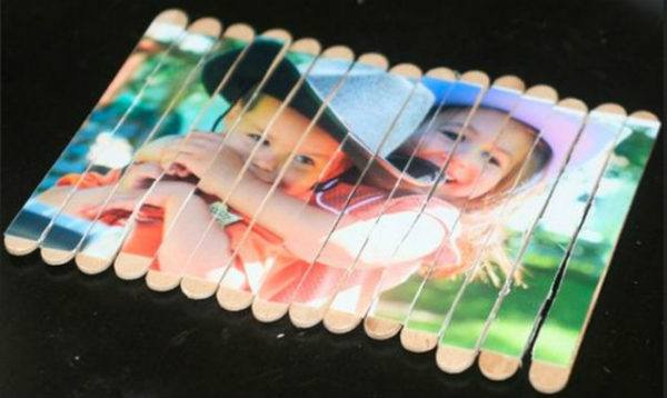Puzzle para el día del padre con material reciclado