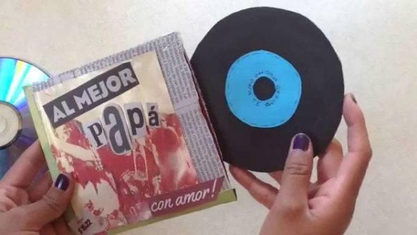 Tarjetas de felicitación para el día del padre en forma de disco