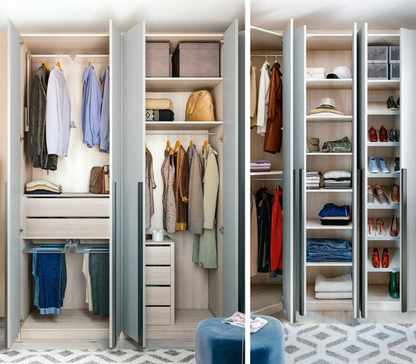 M s de 40 fotos de vestidores modernos y peque os - Topes para puertas leroy merlin ...