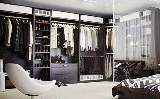 M s de 40 fotos de vestidores modernos y peque os - Armario abierto ikea ...