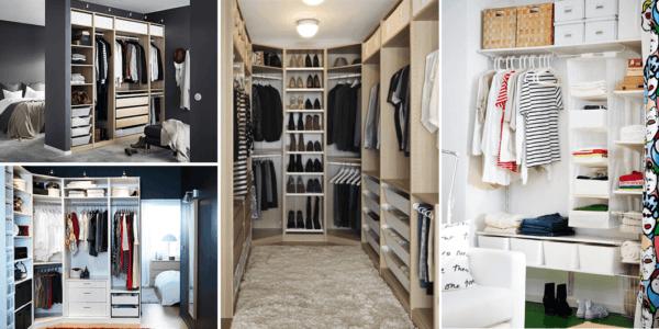 M s de 40 fotos de vestidores modernos y peque os for Ikea armarios habitacion