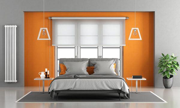 Los mejores colores que combinan con gris para decorar una - Pared naranja combina con ...