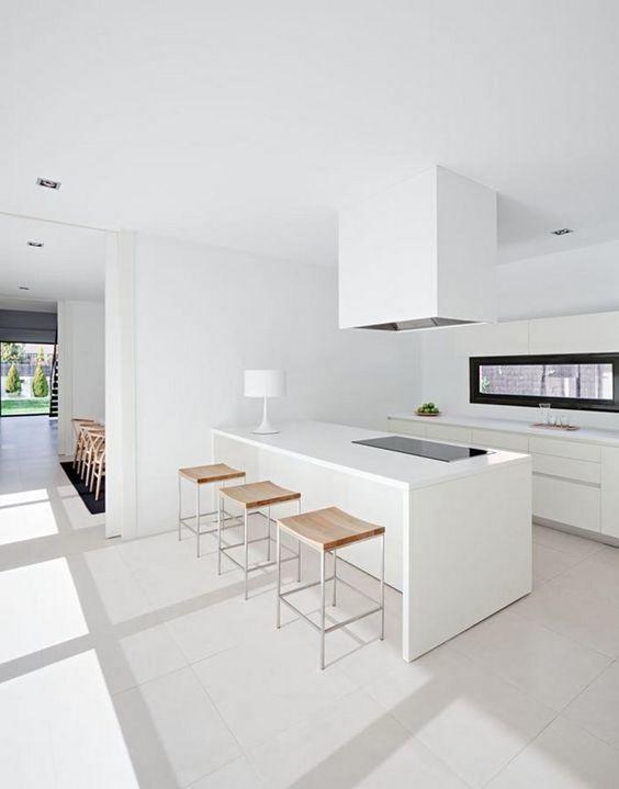 C mo decorar cocinas blancas y modernas 2018 for Cocinas modernas 2017