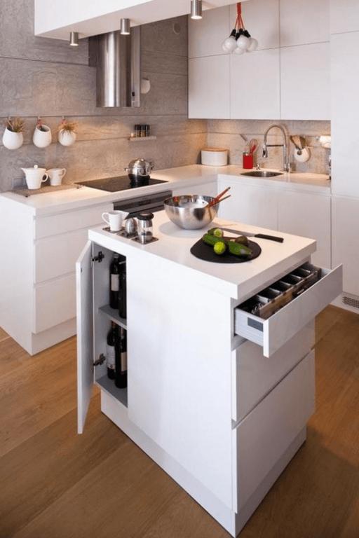 C mo decorar cocinas blancas y modernas 2018 for Cocinas naranjas y blancas