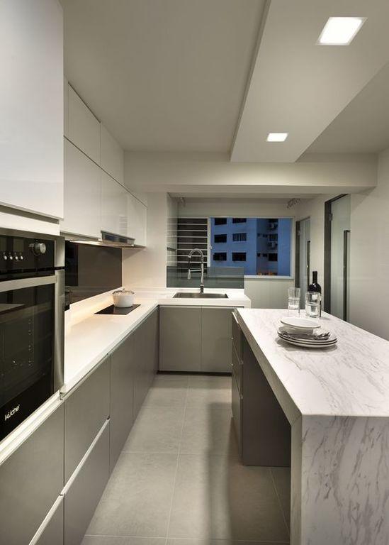 Diseños de cocinas integrales modernas y pequeñas 2019 - BlogHogar.com