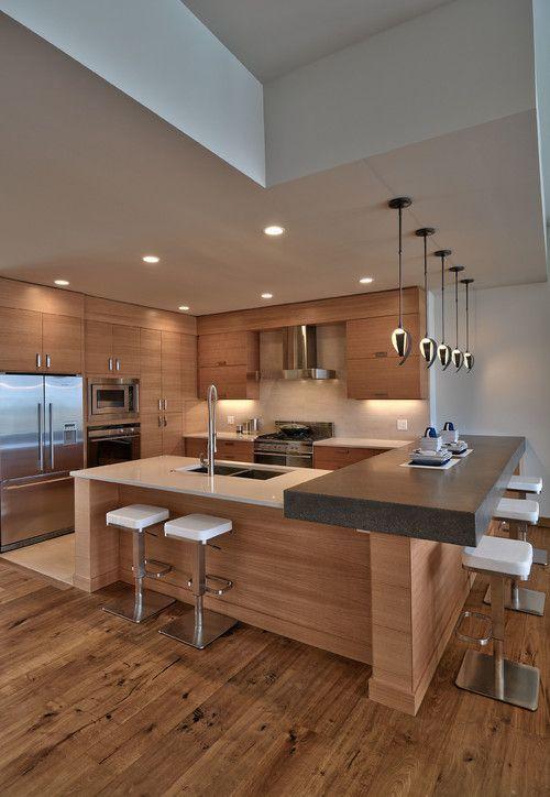 Diseños de cocinas integrales modernas y pequeñas 2018 - BlogHogar.com