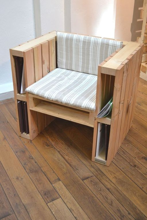 Ideas y dise os para hacer muebles con palets diy - Sillon para leer ...