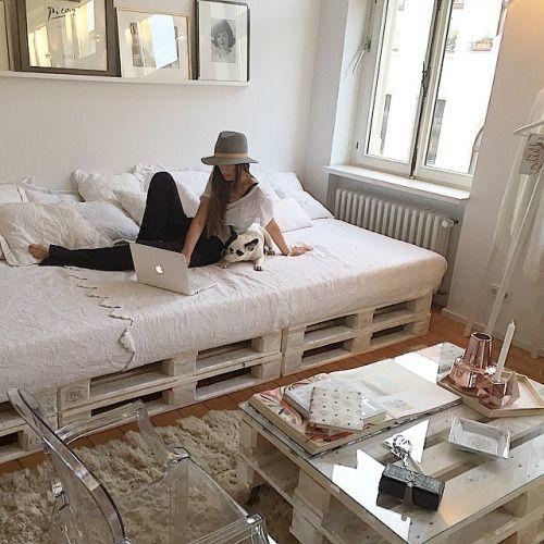 Ideas y dise os para hacer muebles con palets diy for Muebles de palets precio