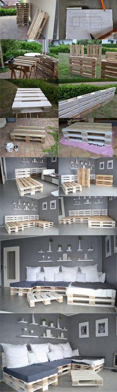 Ideas Y Disenos Para Hacer Muebles Con Palets Diy Bloghogarcom - Muebles-de-palets-paso-a-paso