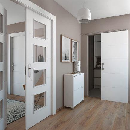 dise os de puertas de interior 2018 blancas de madera