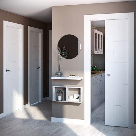 Dise os de puertas de interior 2018 blancas de madera for Ver puertas de interior y precios